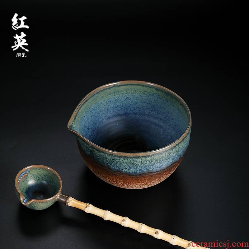Red the jingdezhen ceramic slag bucket built large tea wash water up kung fu tea tea tea points tea filter