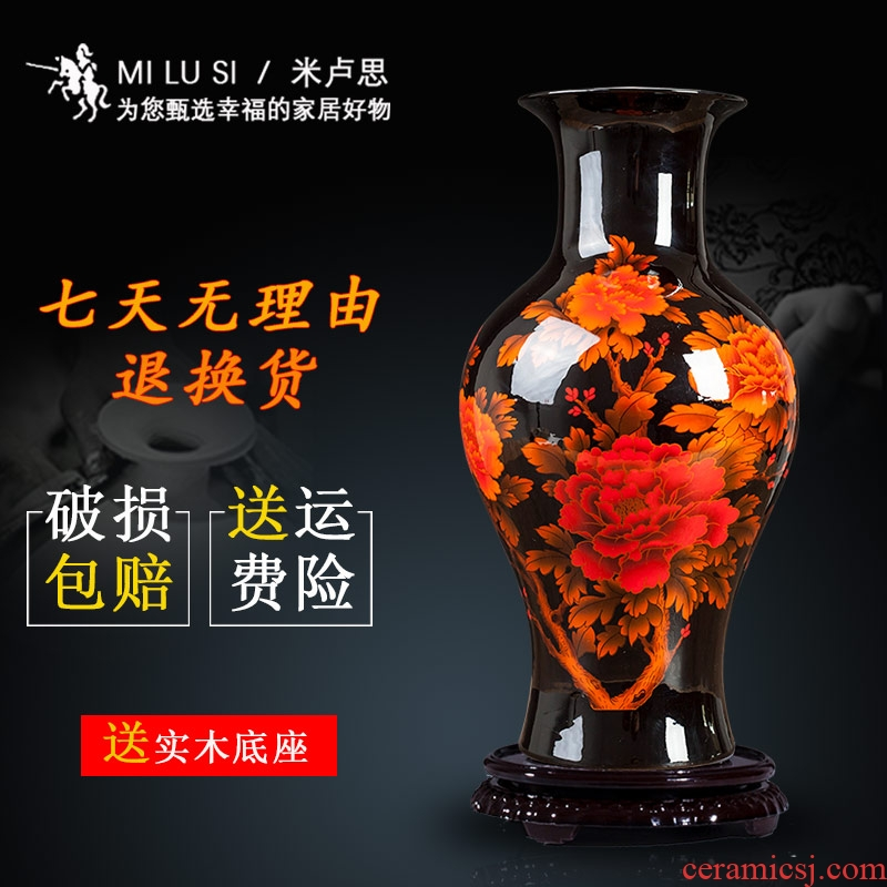 Rice lu, jingdezhen ceramic vase home sitting room office furnishing articles of handicraft wedding household adornment