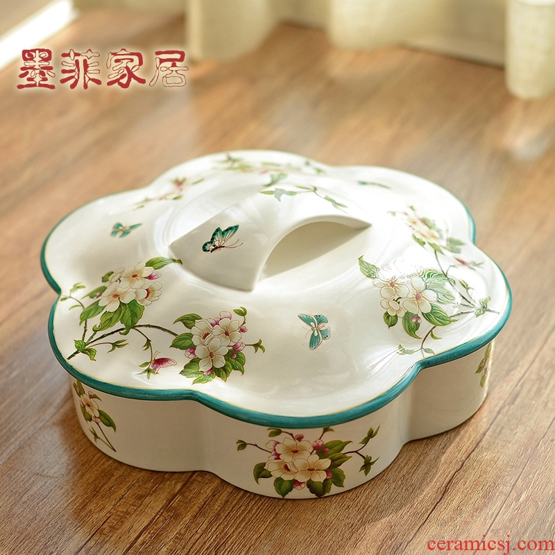 New Chinese style ceramic furnishing articles American 'lads' Mags' including nuts dried fruit box sitting room tea table candy boxes home furnishing articles