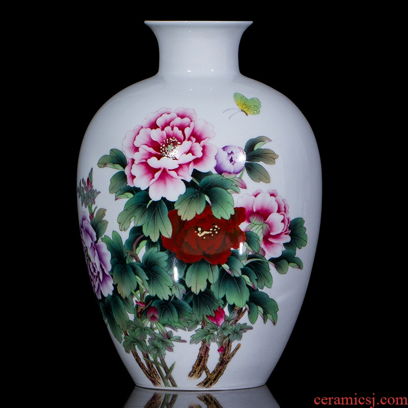 Jingdezhen ceramics famous hand - made ceramic vases, flower arranging new Chinese style living room decoration handicraft furnishing articles of marriage
