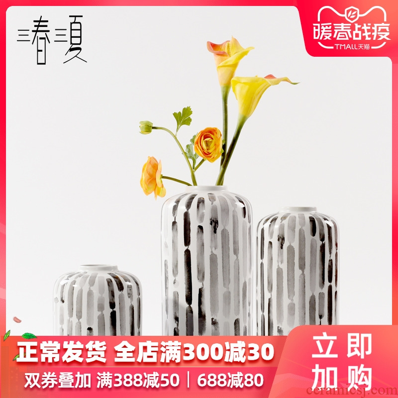 Postmodern ceramic vase furnishing articles contracted Europe type dry flower arranging flowers sitting room table creative decoration desktop ornaments