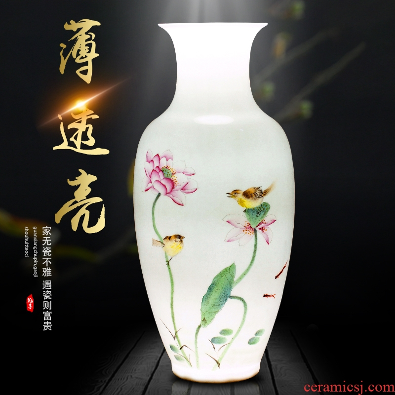 Jingdezhen ceramics new Chinese vase flower arranging home sitting room manual hand - made art crafts home furnishing articles
