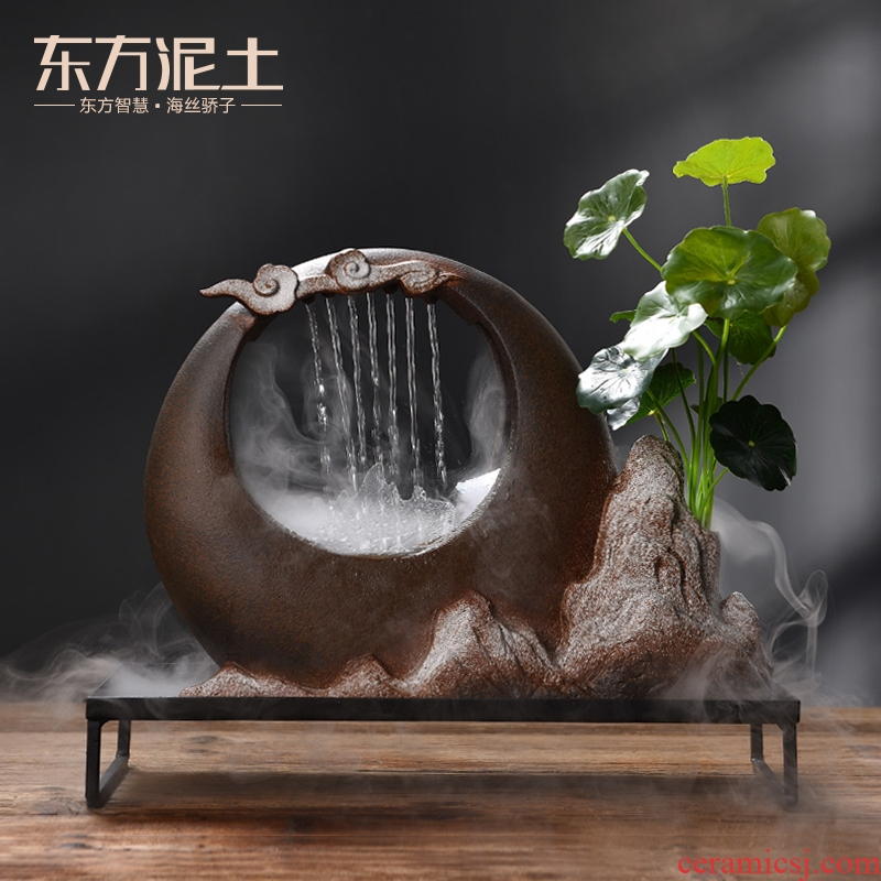 The east mud successfully implement creative ceramic water furnishing articles home office desktop sitting room adornment humidifier