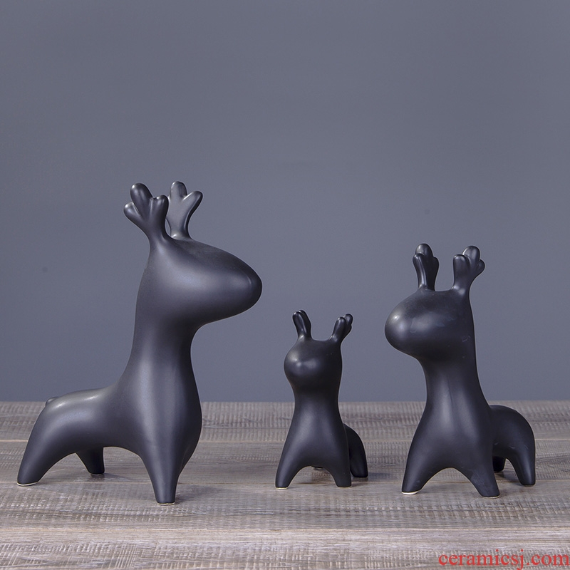 Nordic creative creative home furnishing articles desktop sitting room ark of modern ceramic wedding gift LuMeng small ornament