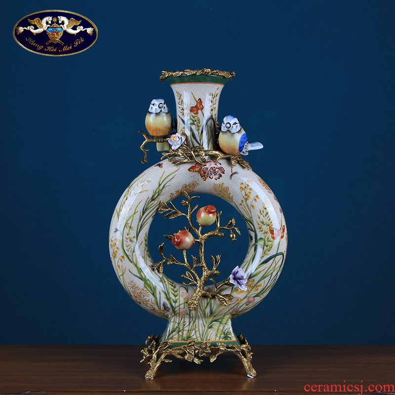 European creative vase sitting room ceramic art decoration American household soft adornment porch place restoring ancient ways