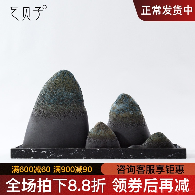 The New Chinese zen ceramic rockery household soft outfit handicraft furnishing articles model the sitting room porch light wine key-2 luxury decoration