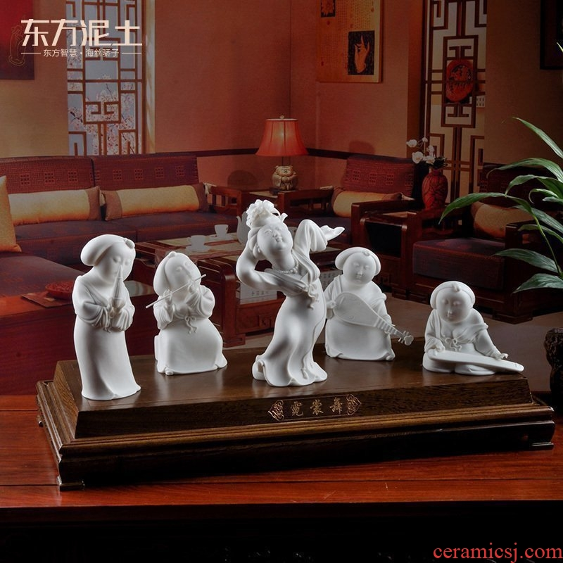 Oriental soil dehua white porcelain its art collection sitting room of Chinese style household furnishing articles/dress dance D44-29