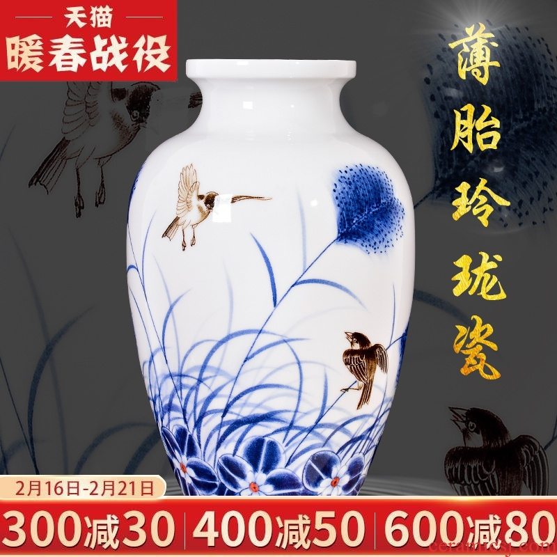 The Master of jingdezhen ceramics hand - made thin body Chinese sitting room porch rich ancient frame TV ark, decoration gifts furnishing articles
