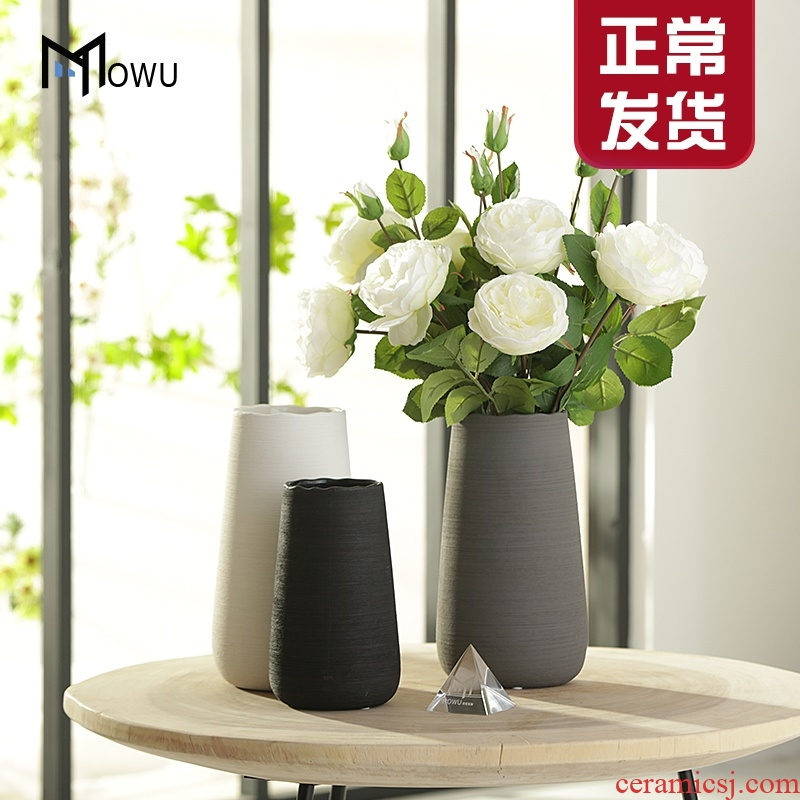 Nordic ceramic vase furnishing articles creative living room white flower arrangement drawing do vases, table home ground adornment