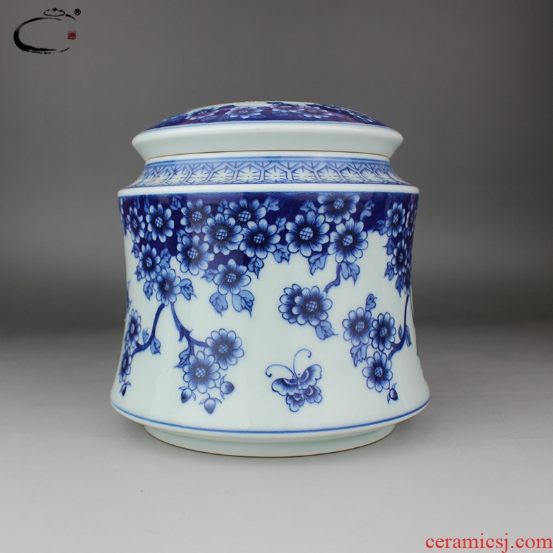 Beijing DE and auspicious jingdezhen blue and white manual portable ceramic tea set hand - made seal tea pot package bag in the mail