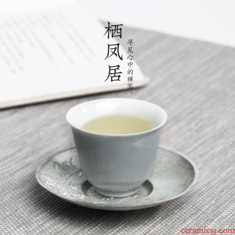 The Series of Japanese live chicken in soot sample tea cup contracted wind ceramic cups kung fu tea set thin foetus noggin single CPU