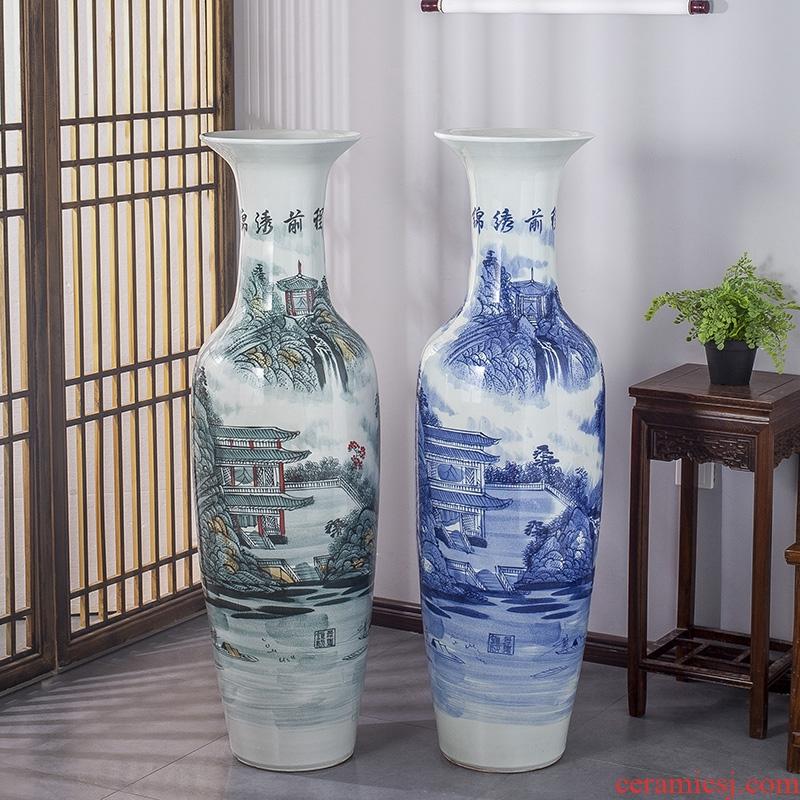 Jingdezhen ceramics manual hand - made bright future furnishing articles sitting room of large vase flower arranging hotel decoration