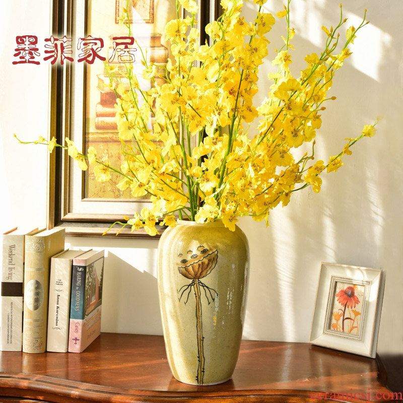 The New Chinese vase furnishing articles home decoration crafts American ceramic sample room sitting room porch decoration restoring ancient ways