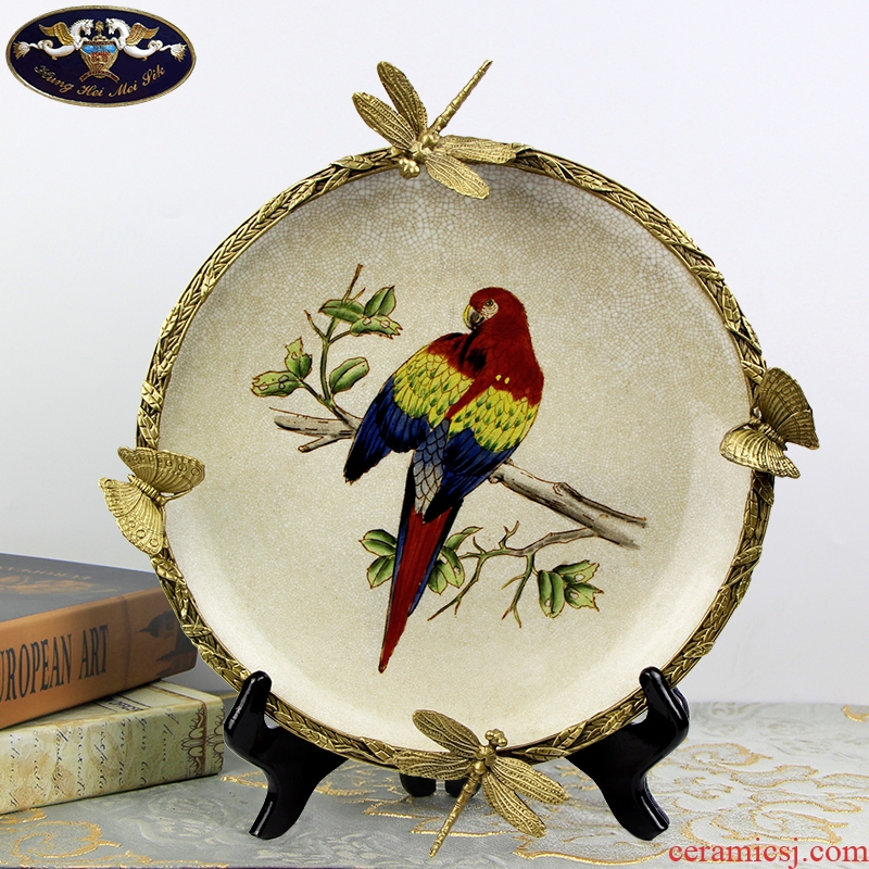 European creative hang dish decorative plate wall act the role of American sitting room plate frame home decoration handicraft furnishing articles