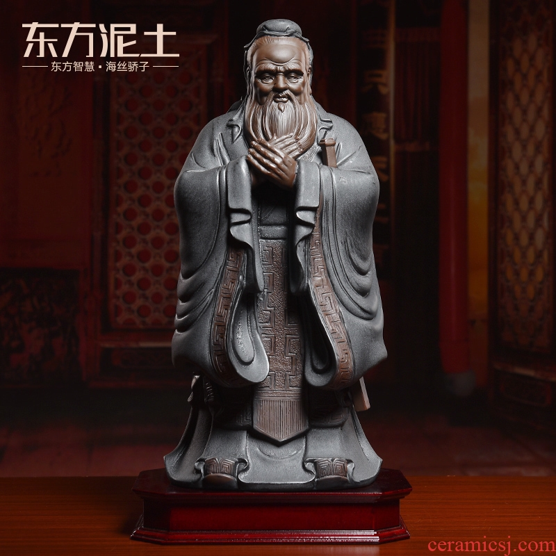 Oriental clay ceramic Confucius furnishing articles, the sitting room is the study of new Chinese style desk desktop decoration to the the teacher