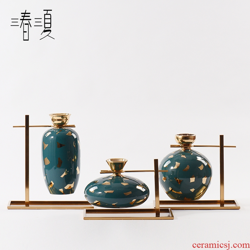 Fine expressions using new classical Chinese flower arranging porcelain ceramic vase furnishing articles of the sitting room TV ark, wine porch soft decoration