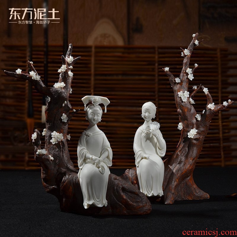 The east mud dehua white porcelain ceramic its art furnishing articles sitting room TV ark, home decoration/fragrance