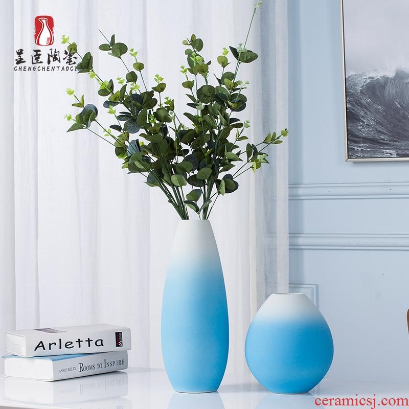 Jingdezhen ceramic floret bottle furnishing articles TV ark, Nordic dried flowers flower arrangement art creative contracted sitting room adornment