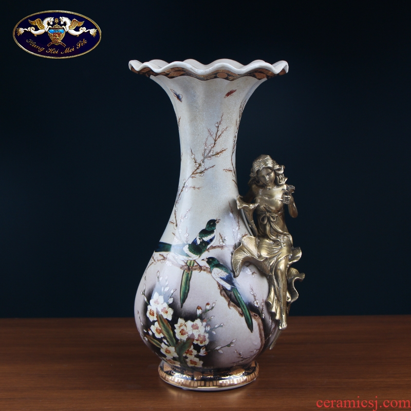 European creative vase furnishing articles sitting room flower arranging American TV ark, decoration home decoration ceramic arts and crafts