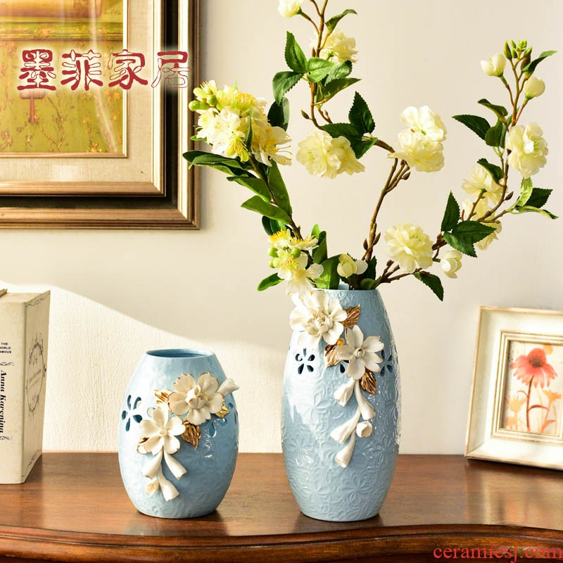 Modern ceramic vase furnishing articles creative European American sitting room porch TV cabinet table flower arrangement home decoration