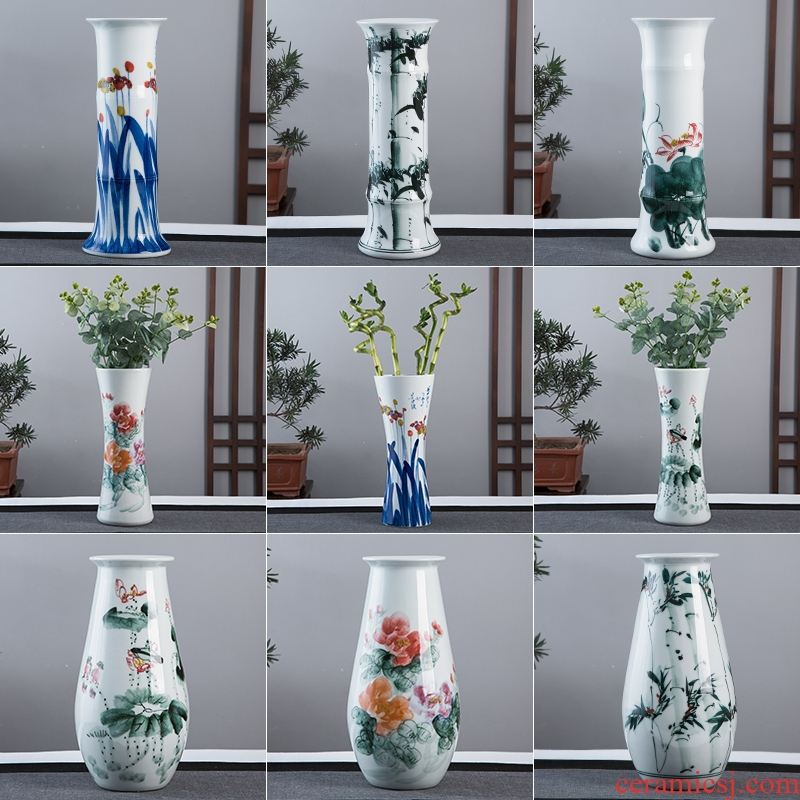 Jingdezhen hand - made ceramic vase now rising furnishing articles sitting room ground hydroponic lucky bamboo flower arrangement craft ornaments