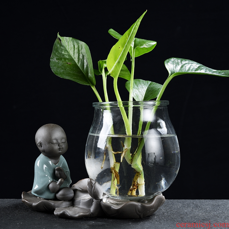 Creative furnishing articles monk floret apparatus of sitting room other flower home decoration glass vases, ceramic water container