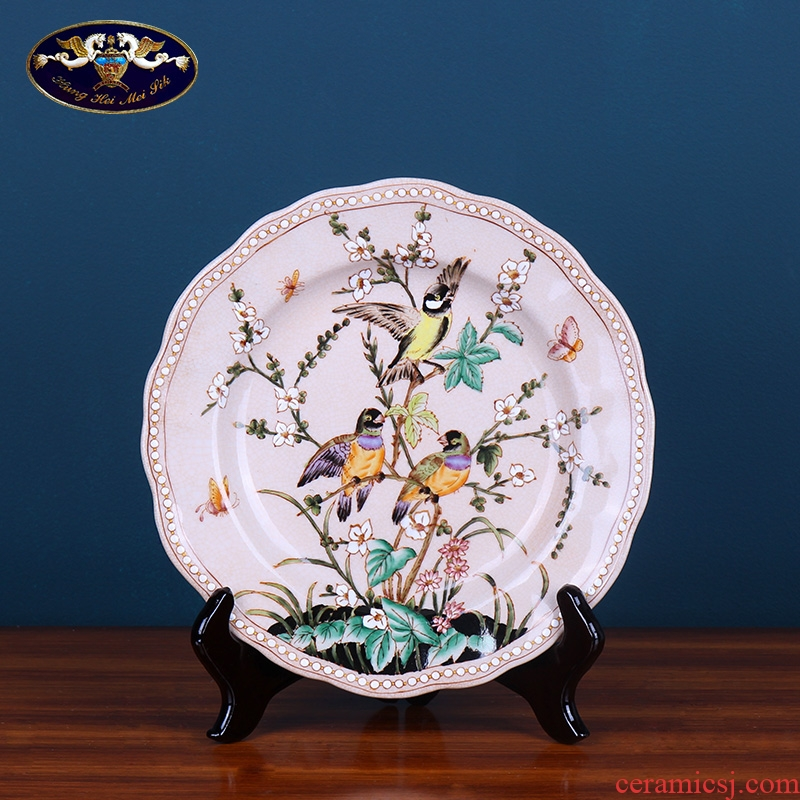 European ceramic decorative wall hanging dish plate creative American household act the role ofing is tasted sitting room display tray plate is placed
