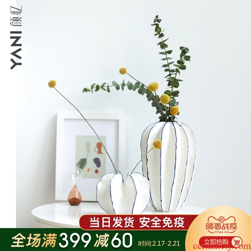 YANI yan have creative design contracted sitting room vase furnishing articles home decoration ceramic carambola flower arranging flowers