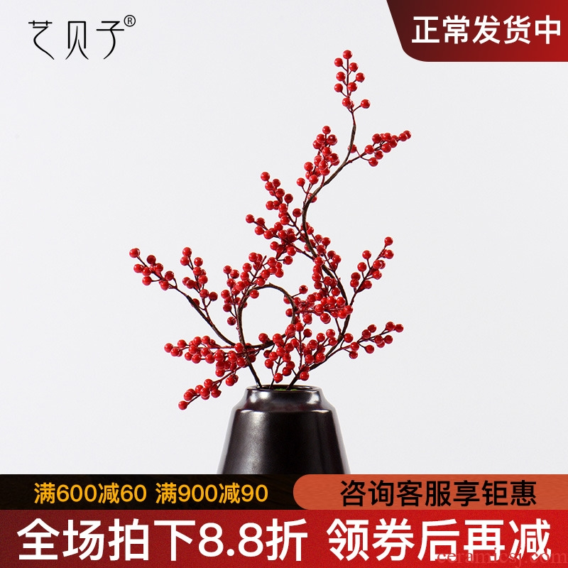 New Chinese style bonsai flower art study TV ark of tea table desktop example room decoration miniascape of ceramic art decorations