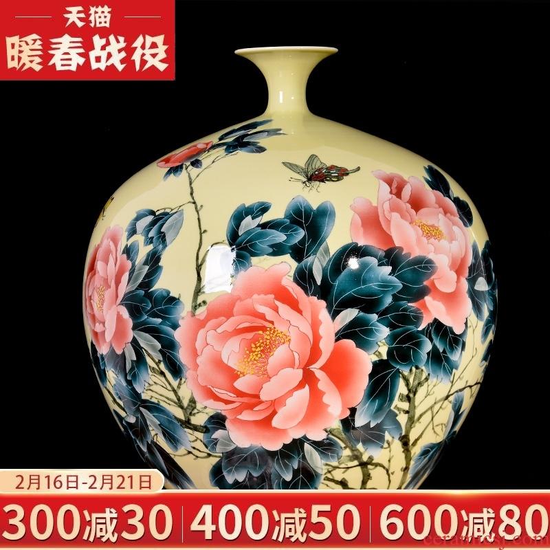 Jingdezhen ceramics, vases, flower arranging master hand draw the sitting room porch study adornment handicraft office furnishing articles