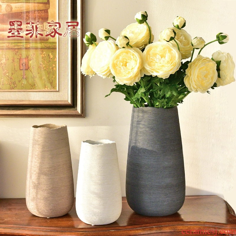 I and contracted ceramic furnishing articles European creative flower vase Nordic sitting room wine home furnishing articles