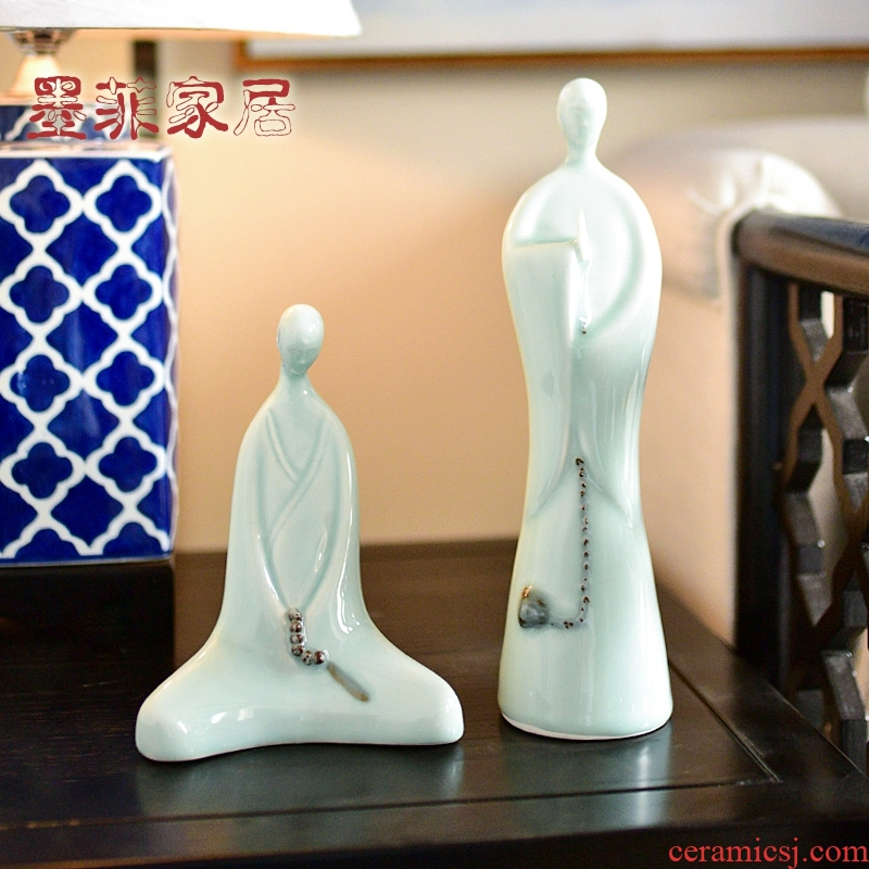 The new Chinese zen ceramic furnishing articles office home wine sitting room porch study ancient frame adornment ornament