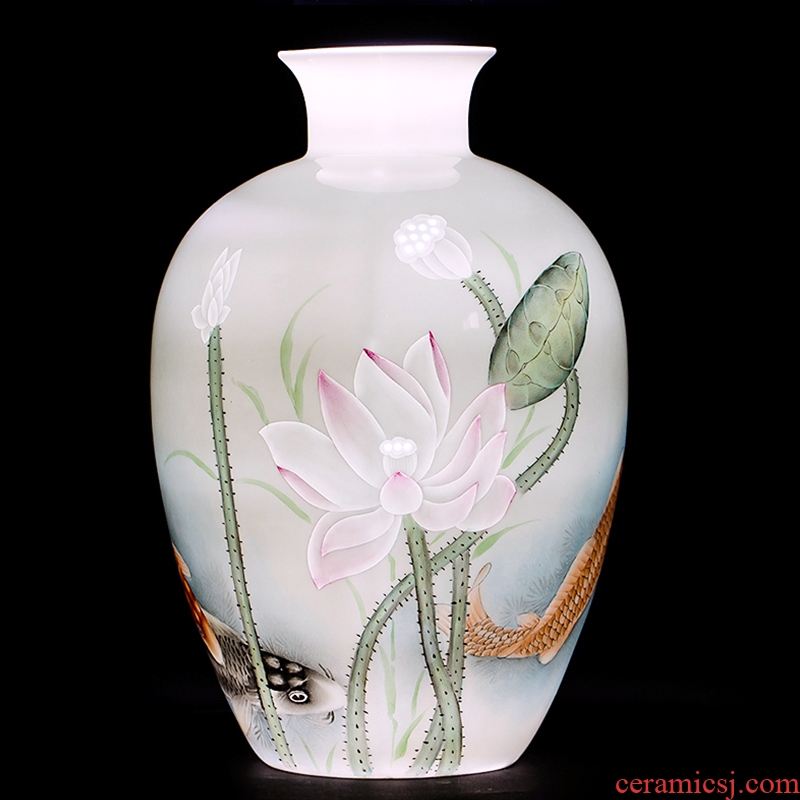 The Master of jingdezhen ceramic knife clay hand - made vase household flower arrangement sitting room TV ark, adornment handicraft furnishing articles