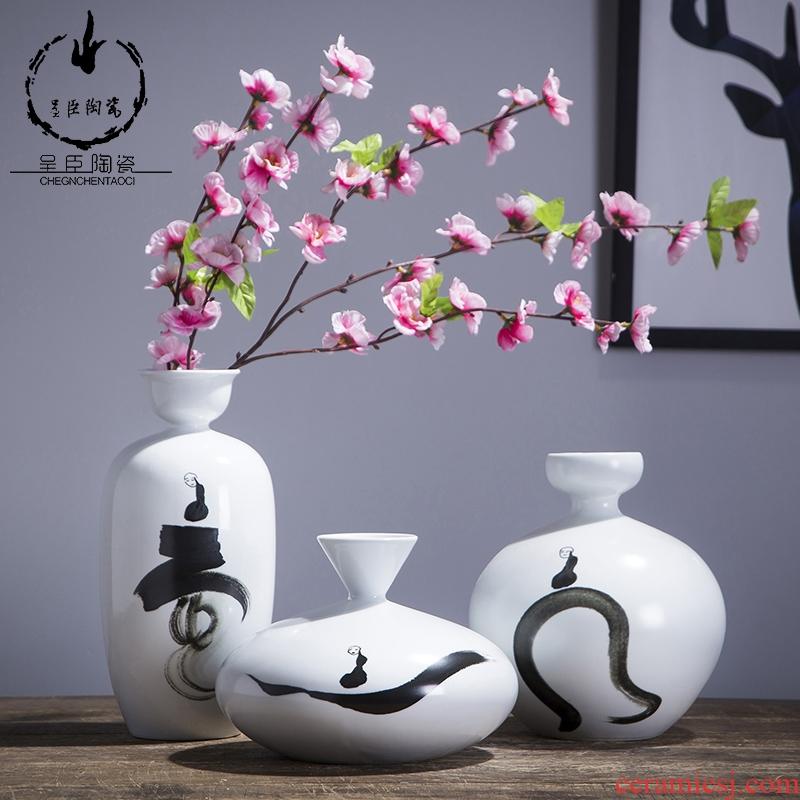 Porcelain of jingdezhen ceramic white floret bottle creative fine expressions using bedroom desk furnishing articles home decoration Porcelain vase