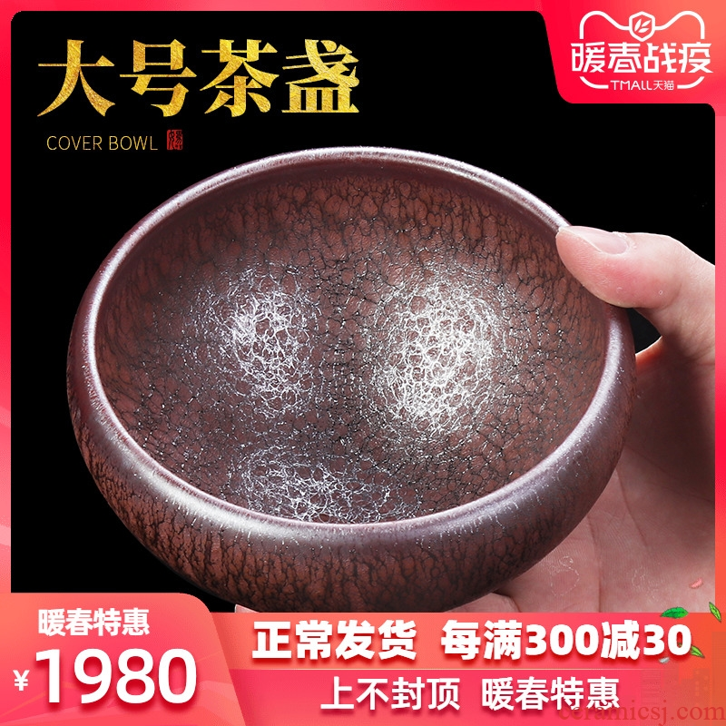 Artisan fairy super - sized built one cup tea sea ceramic checking household kung fu tea tea to wash to the master cup single CPU