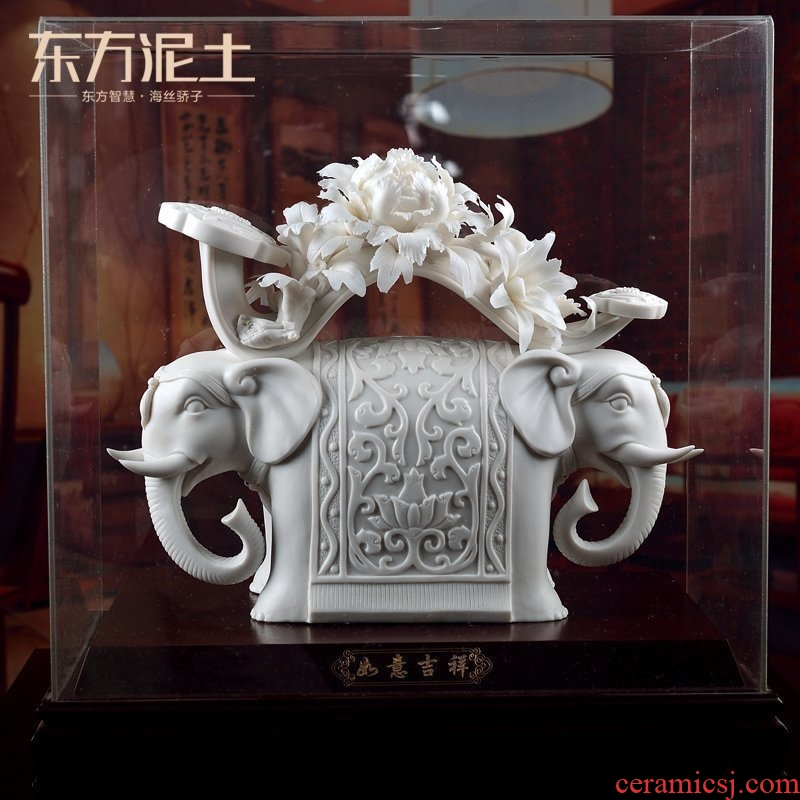 Oriental Chinese style living room soil decorative furnishing articles dehua white porcelain molded plastic craft art/wishful auspicious D02-59