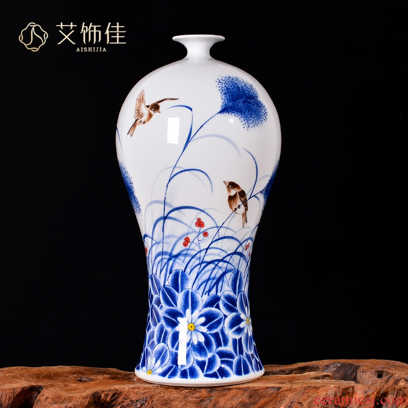 Cixin qiu - yun, hand - made flower arranging decorative vase Chinese jingdezhen ceramics sitting room porch TV ark, handicraft furnishing articles
