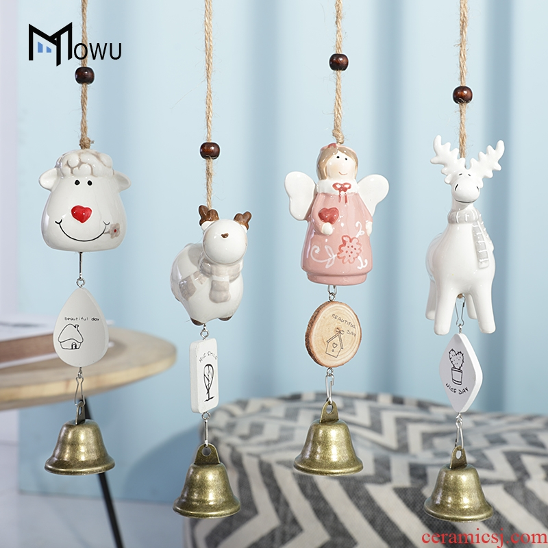 Ceramic bells hang act the role of creative cartoon Japanese girls bedroom room adornment feel small pure and fresh and hang a birthday present