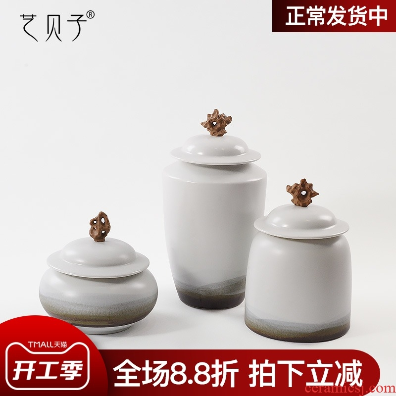 New Chinese style household act the role ofing is tasted furnishing articles ceramic art BeiZi the storage tank floor decoration example room living room window