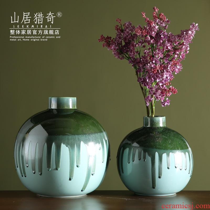 Variable red porcelain vase furnishing articles I and contracted home sitting room art flower arranging flowers, small ball bottle expressions using