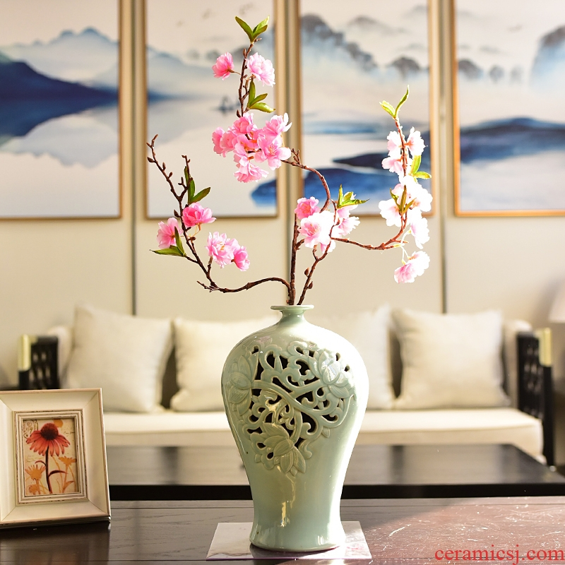 Creative new Chinese style ceramic furnishing articles zen sitting room porch ark, TV ark, household soft adornment vase decoration