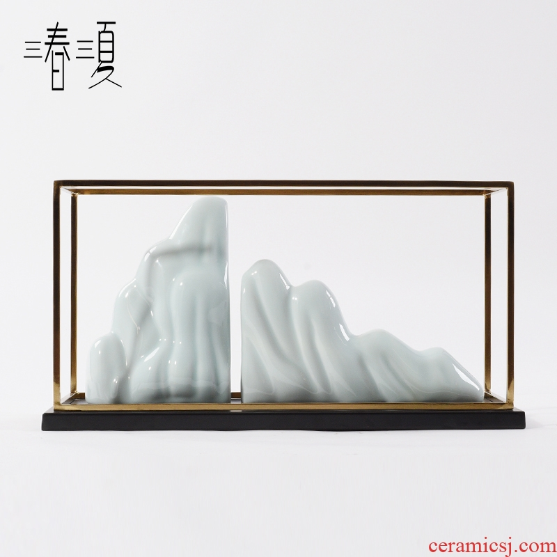 New Chinese style creative ceramic mountain furnishing articles the soft outfit zen floor sample room sitting room porch household act the role ofing is tasted