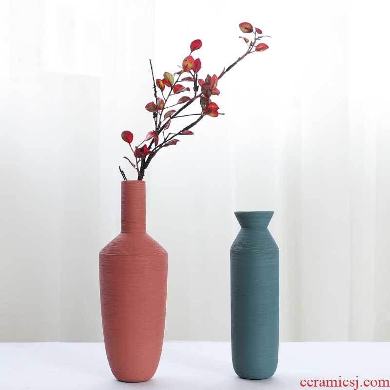 Nan sheng household act the role ofing is tasted ceramic vase simulation flower, dried flower flower mesa furnishing articles I and contracted decorative arts and crafts
