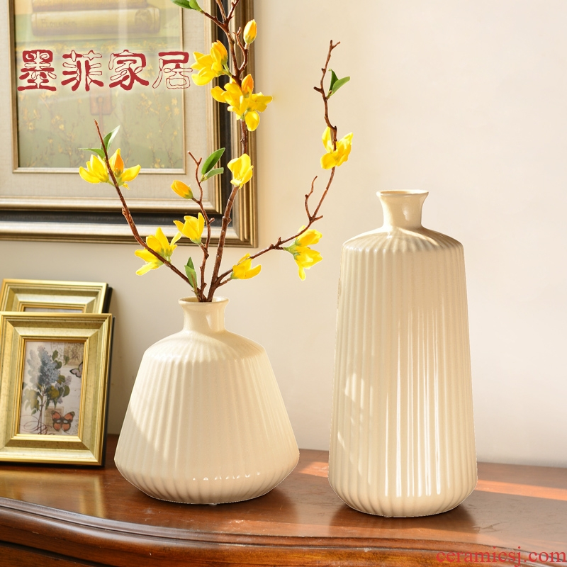 Contracted and I Scandinavian ceramic vase porch place of the sitting room TV ark, wine table decoration home decoration
