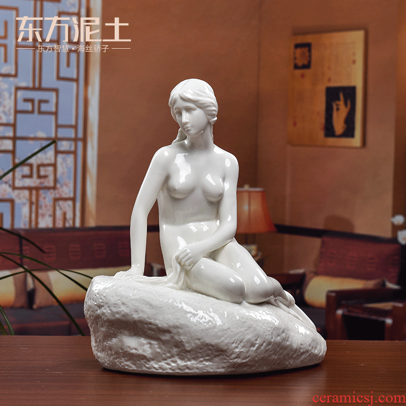Oriental clay ceramic figures home decoration of Chinese style classical fish beauty furnishing articles/mermaid sitting room perhaps - 39