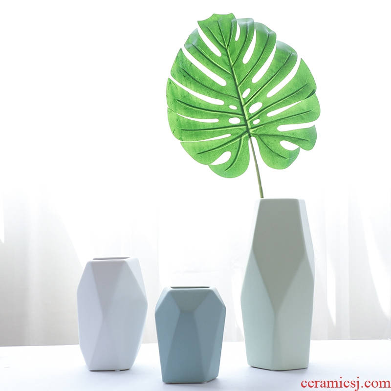Nan sheng I and contracted household act the role ofing is tasted soft outfit ceramic vases, European - style flower implement mesa place decorations arts and crafts