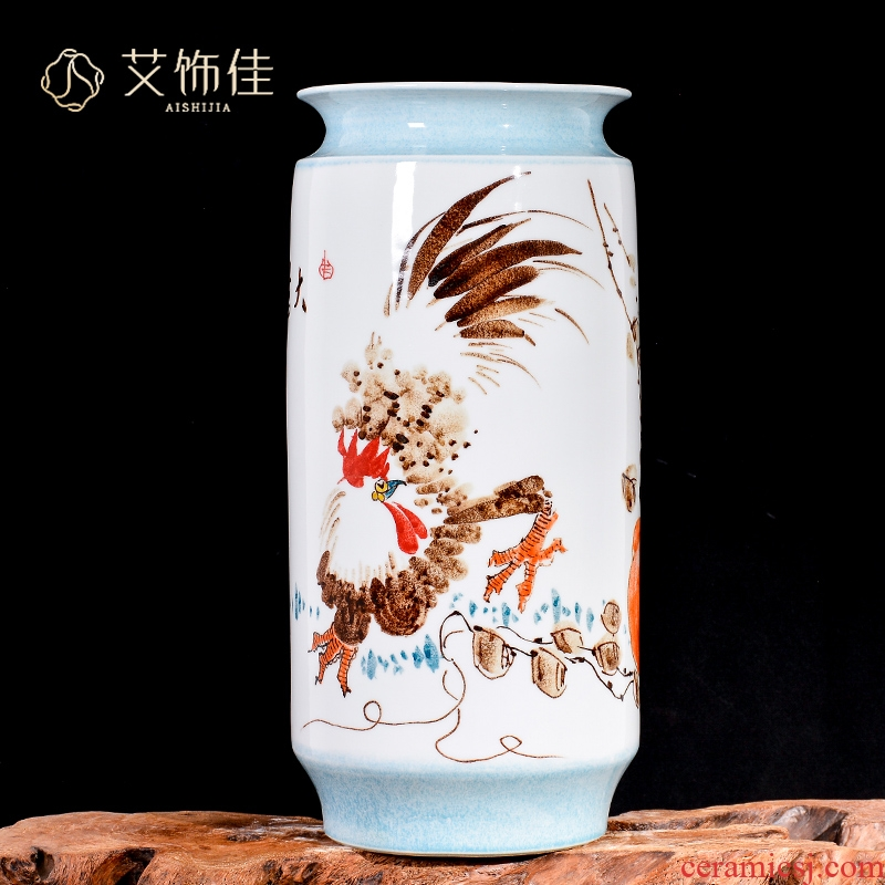 Jingdezhen ceramics hand - made fine figure vases, flower arranging Chinese style household porch decoration crafts are TV ark