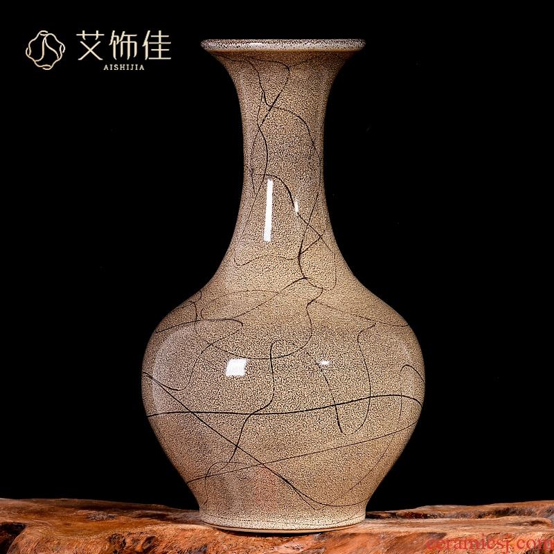 Creative up jingdezhen ceramics vase flower arrangement sitting room furnishing articles furnishing articles home study TV ark, adornment