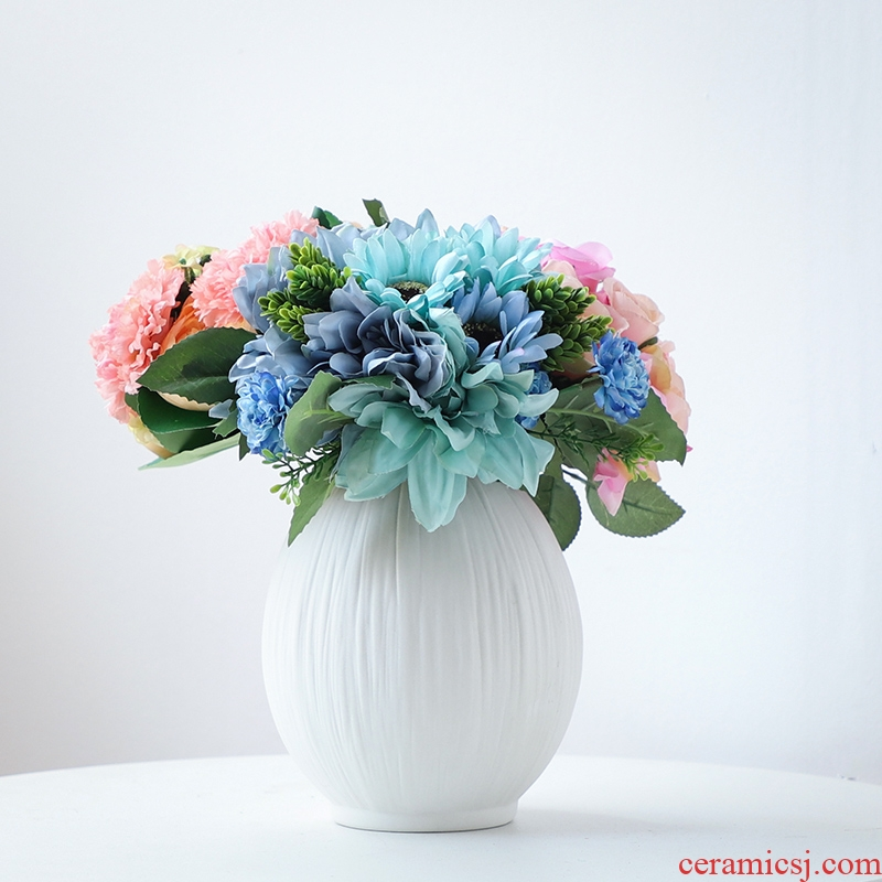 Nan sheng I and contracted white household act the role ofing is tasted ceramic vase simulation flowers, dried flowers, artificial flowers, flower arranging furnishing articles