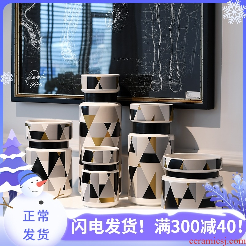 I and contracted made pottery and porcelain vase furnishing articles decoration model between soft outfit sitting room decoration home decoration